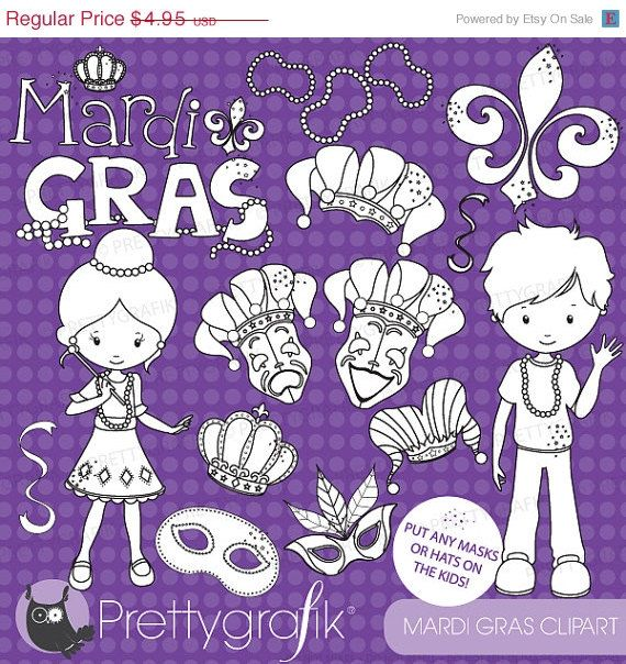 80 OFF SALE Mardi gras stamps commercial use by Prettygrafikdesign, #digitalstamps