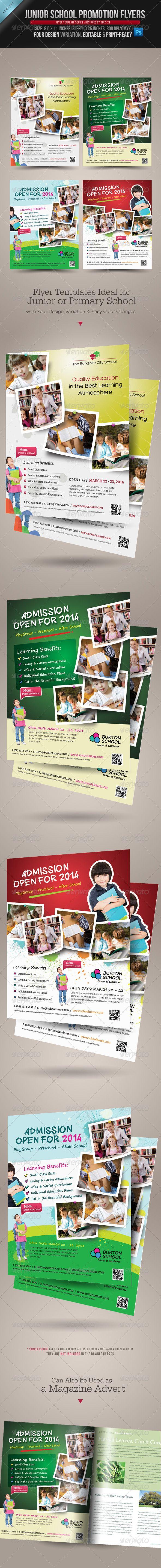 Junior School Promotion Flyers   Karten design, Mutter kind und Grafiken