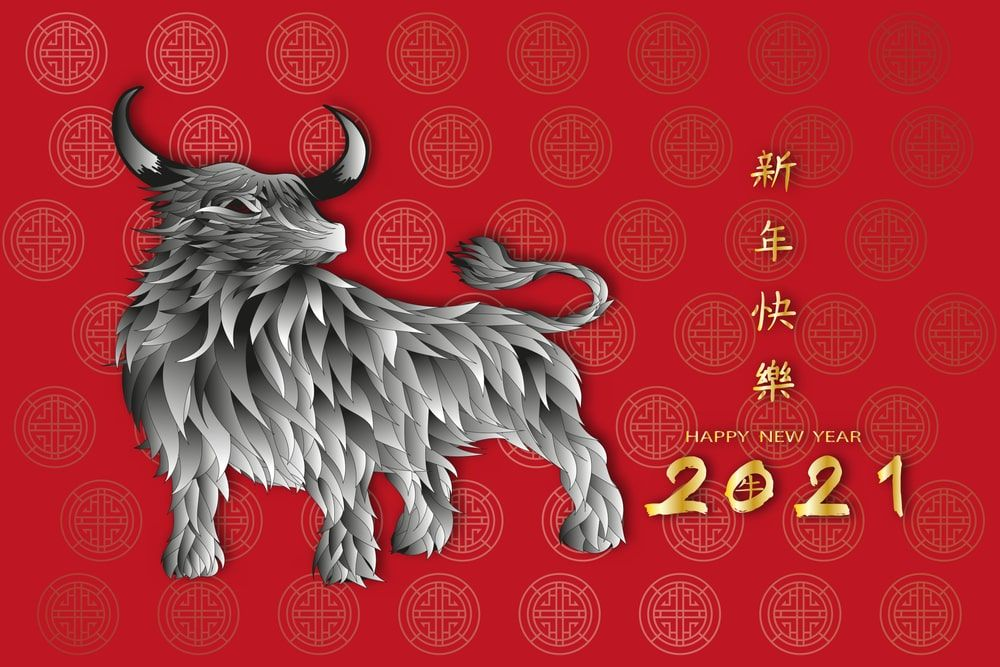 Year Of The Ox 2021 Images And Wallpaper Year Of The Cow Happy Chinese New Year Wallpaper