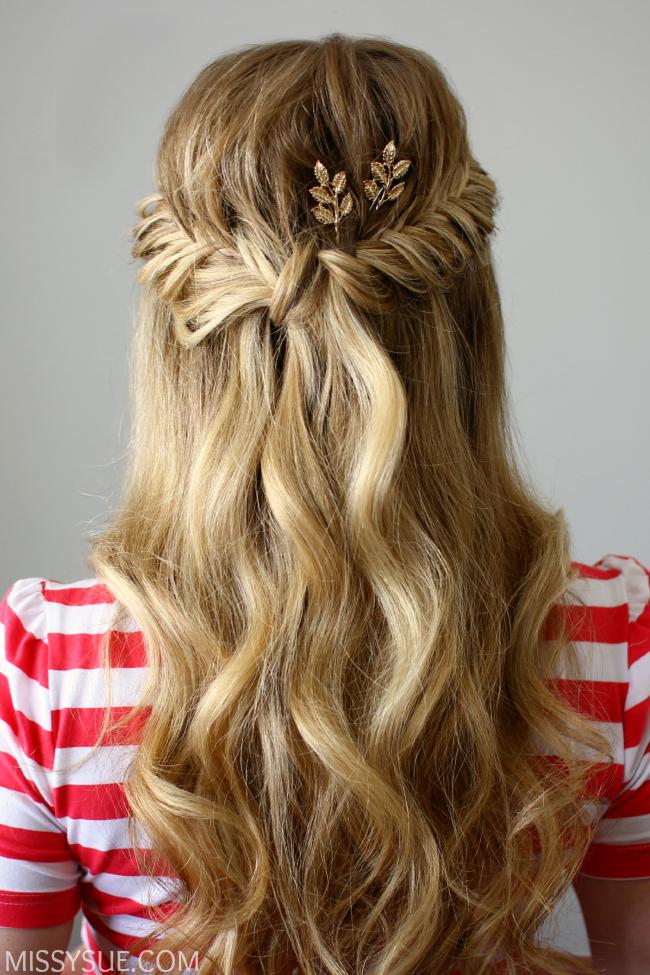 Half Up Fishtail French Braids Fishtail French Braid Braided Hairstyles Braided Ponytail Hairstyles