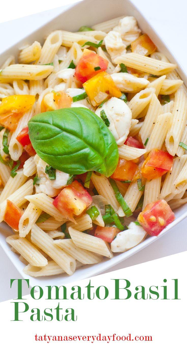 Tomato basil pasta video recipe by tatyanas everyday food tomato basil pasta video recipe by tatyanas everyday food forumfinder Gallery
