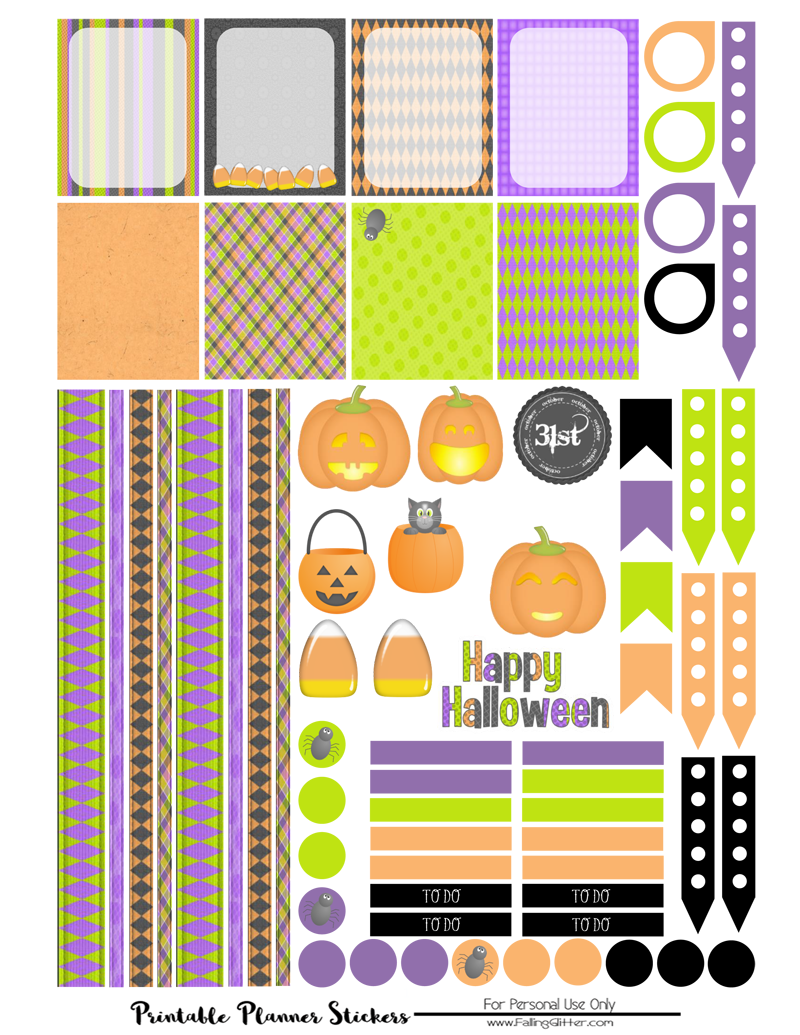 It is a photo of Halloween Stickers Printable for round