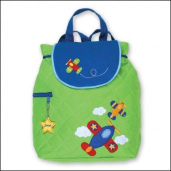 40d959d323 Stephen Joseph Airplane Quilted Toddler Backpack
