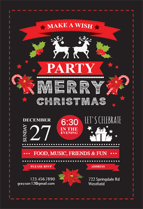 celebration symbols printable invitation template customize add