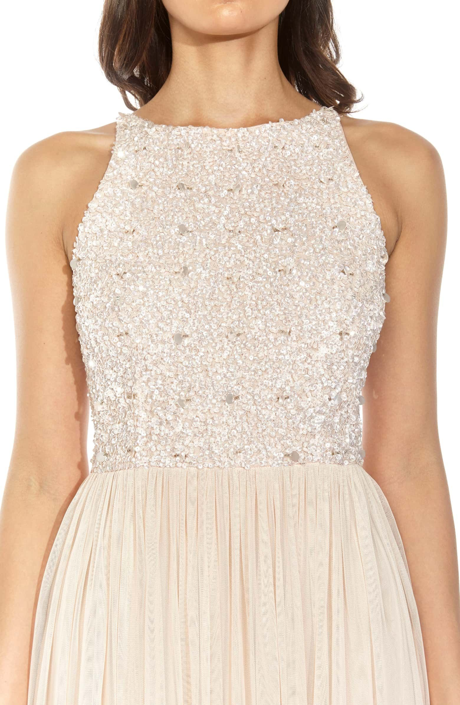 bdc043017c64 Picasso Embellished Bodice Maxi Dress, Alternate, color, Nude ...