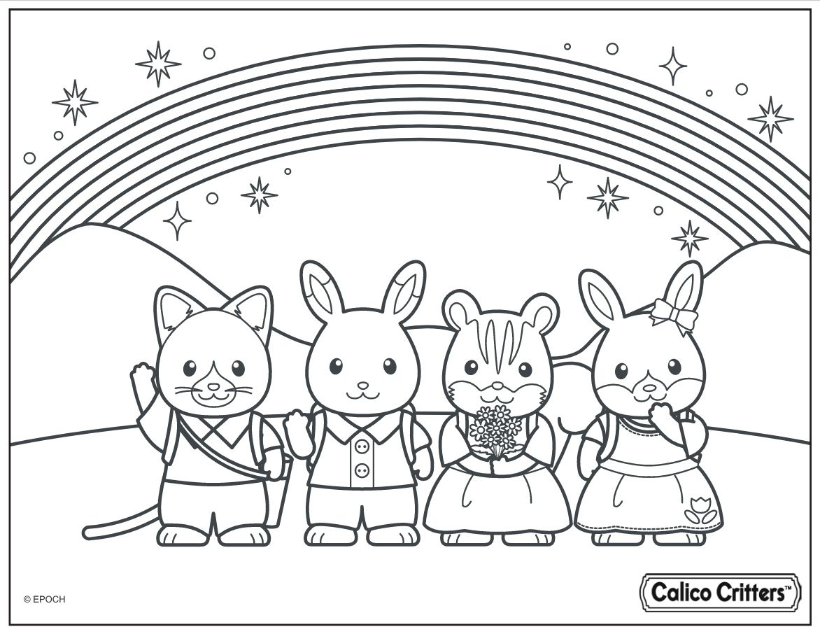 Here Is The Calico Critters Coloring Page Click The Picture To