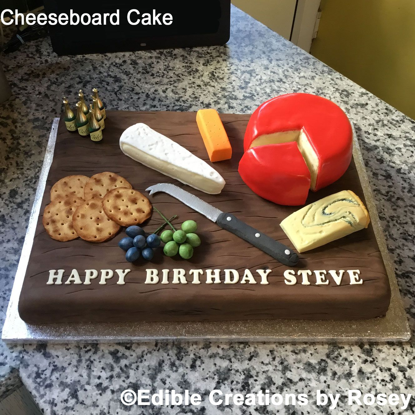Cheeseboard Cake By Edible Creations By Rosey With Images