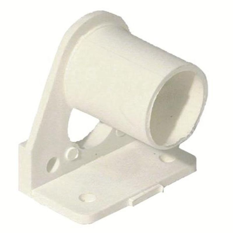 Windoware White PVC Curtain Rod Bracket - 2 Pack