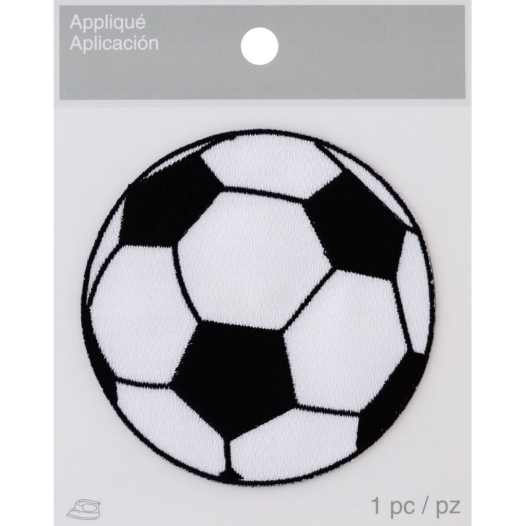 Find the WM. Wright IronOn Applique, Soccer Ball at