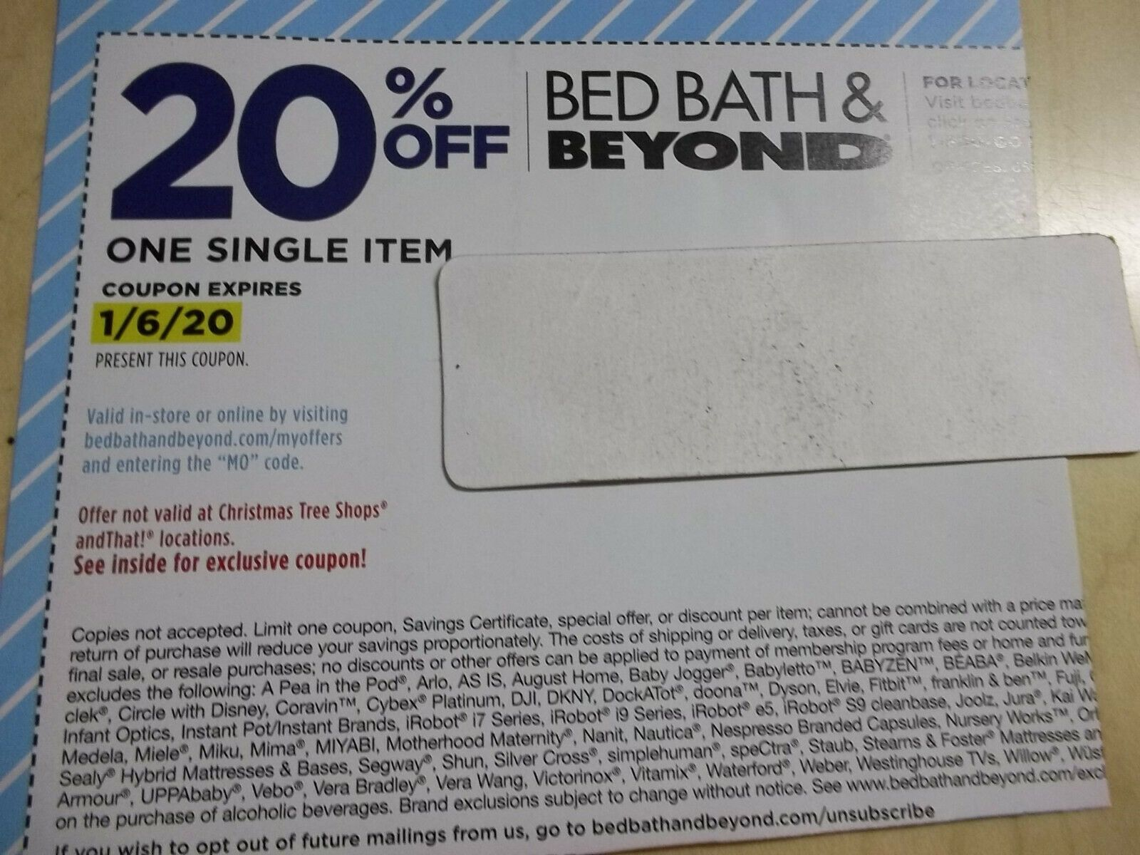 Lot 30 Bed Bath Beyond 20 Off Coupons All Expires 1 6 20 In Store Or Online Bed Bath Beyond In 2020 Bed Bath And Beyond Bed Bath Bath And Beyond Coupon