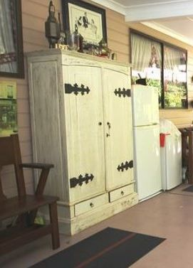 Merveilleux Revamped Armoire For Patio Storage