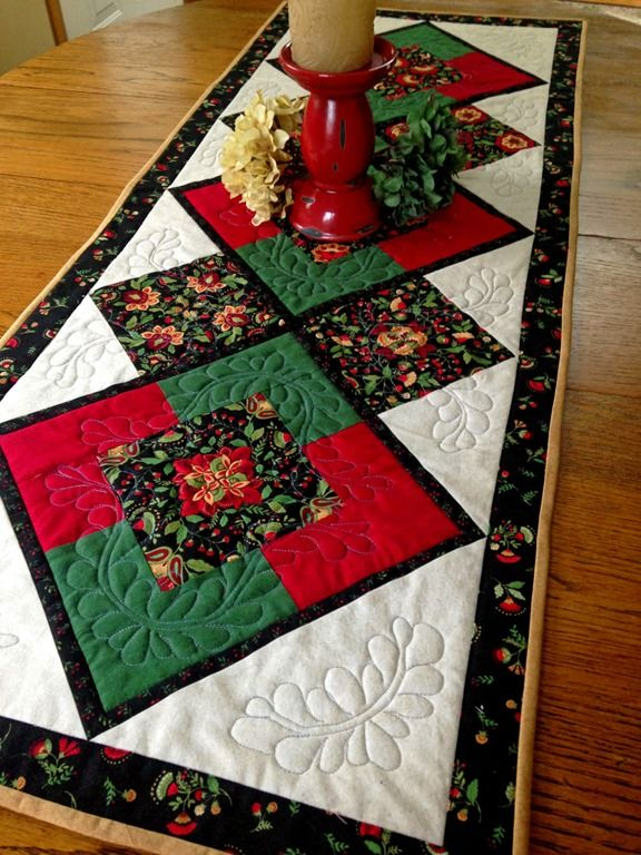 Kaleidoscope 4 Patch Table Runner The Process Quilted Table Runners Christmas Christmas Table Runner Christmas Table Runner Pattern