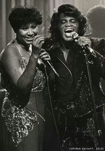 Aretha Franklin And James Brown With Images Aretha Franklin