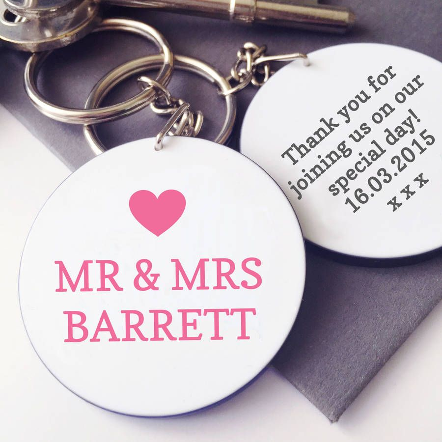 Personalised Wedding Favour Keyring