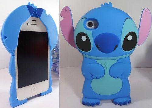 Stitch 3d Iphone 4 4s Funda Carcasa Protector Disney 3d Fundas Fundas Para Celular Estuches Iphone Disney