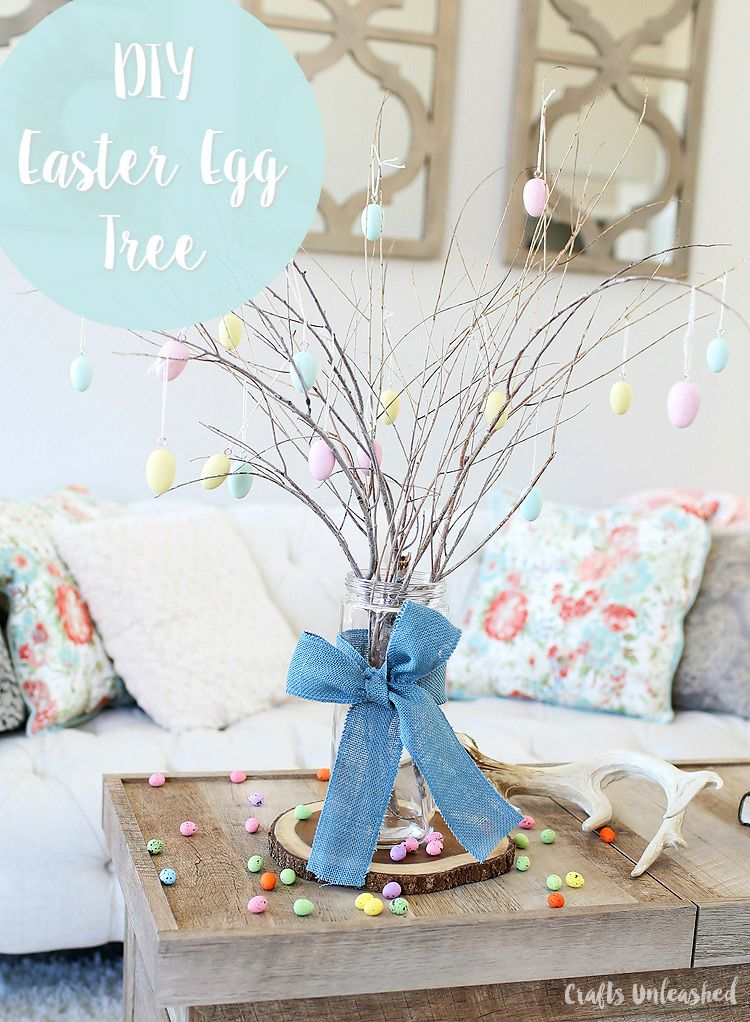 Diy easter tree decor step by step consumer crafts easter egg beautiful diy easter egg tree solutioingenieria Images