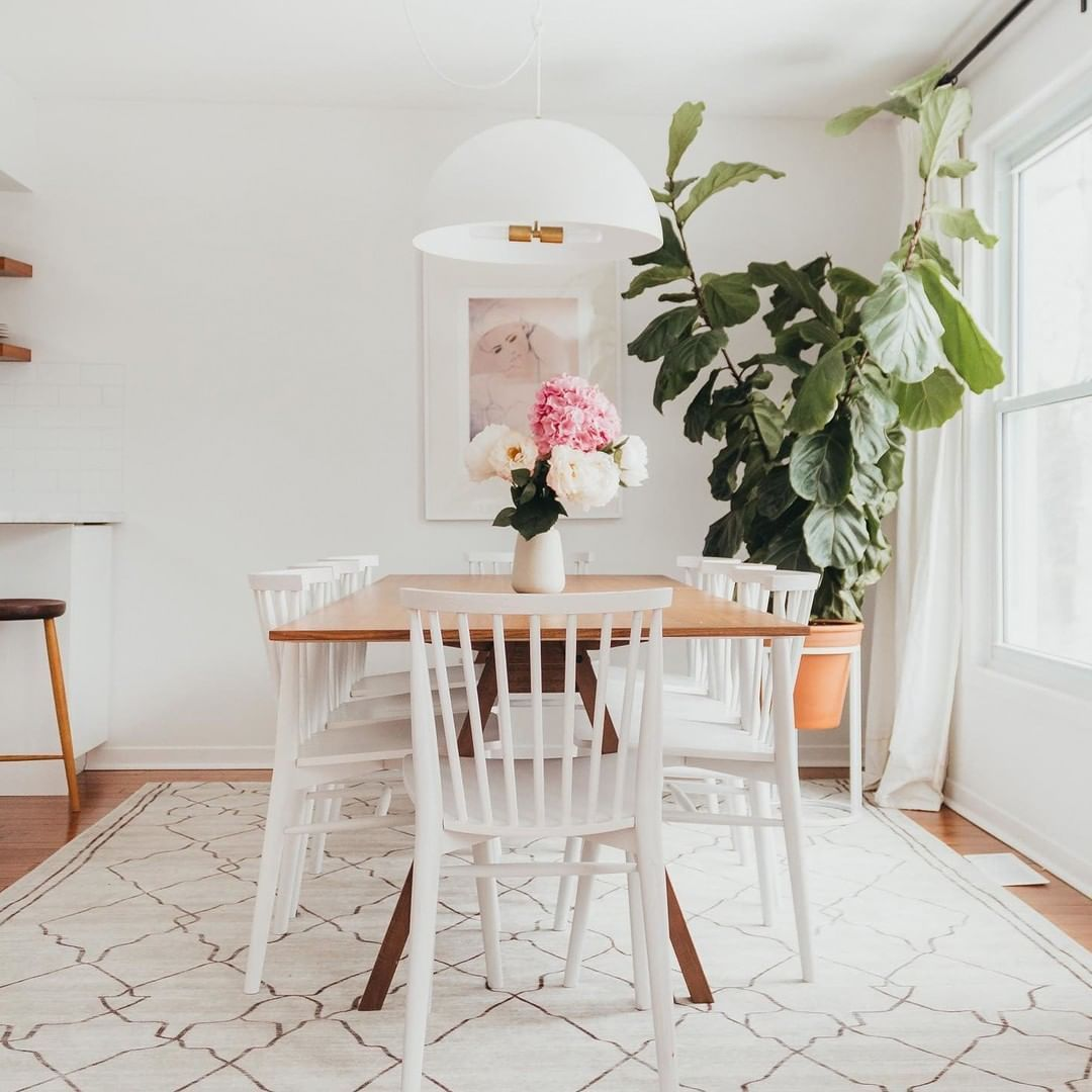 Article On Instagram Soak In All Of That Extra Family Time Around The Table Photo By A In 2020 White Dining Chairs Dining Room Table Centerpieces Target Home Decor