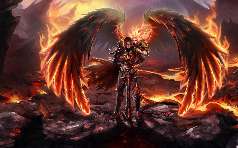 Free Fantasy Fire Woman Computer Desktop Wallpaper Dark Angel Wallpaper Angel Wallpaper Angel Art