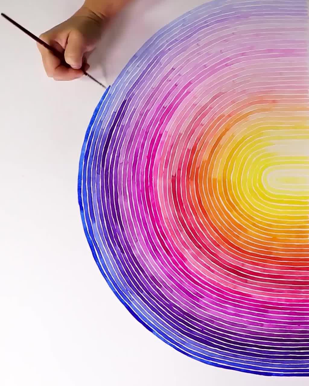 Huge Rainbow Watercolor - Josie Lewis Art