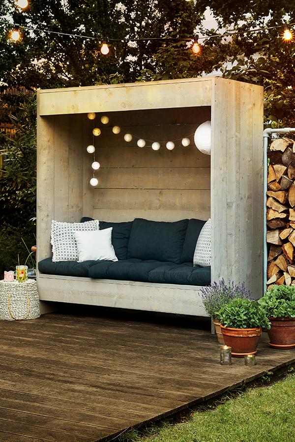 Photo of Eine Sitzfläche mit Rückwand für entspannte Tage im Garten. Selbstgebaut. So …