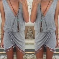 Wish | Celeb Women Ladies Boho Summer Beach Sleeveless Party Evening Short Mini Dress