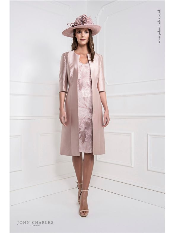 Blush Dress And Coat 25921b
