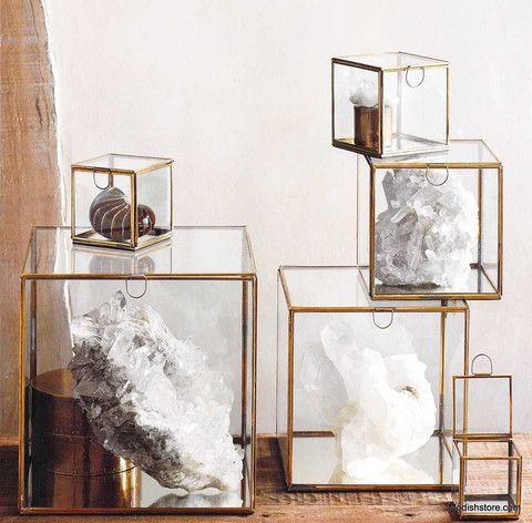 Roost Glass Mirror Boxes Glass Display Box Glass Display Case Mirror Box