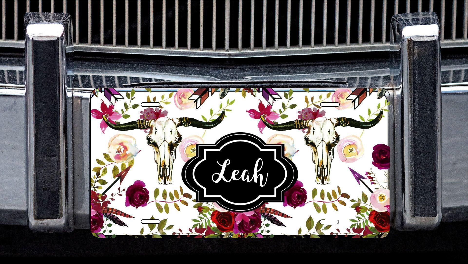 License Plate Cover Custom Longhorn License Frames