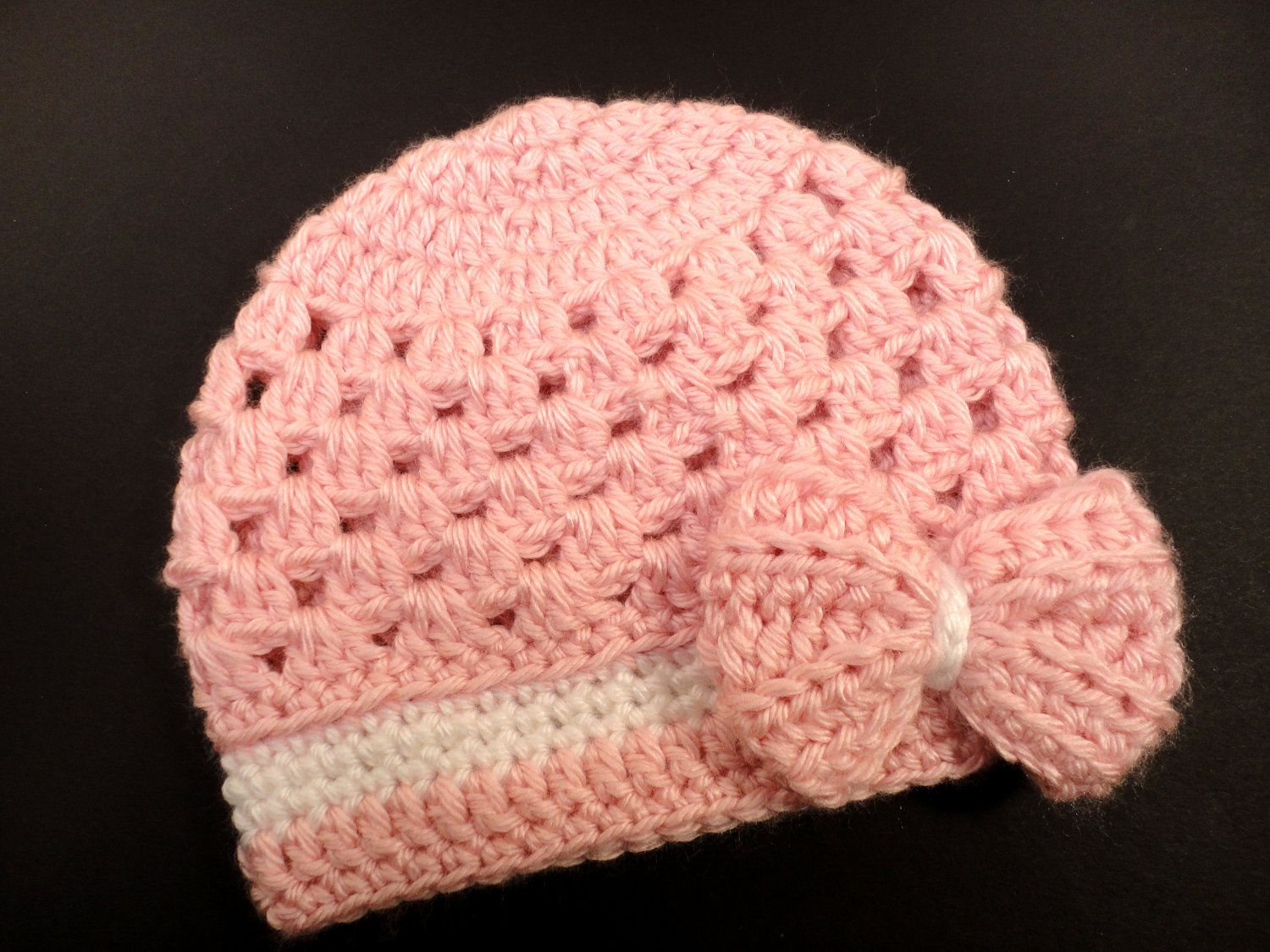 crocheting+for+baby | Crochet Hat Pattern for Baby Girl Newborn to 3 ...