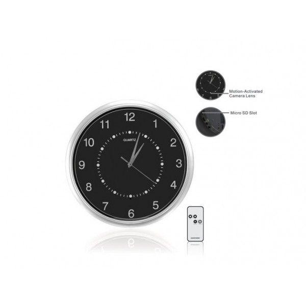 reloj de pared con camara wifi inalambrica color espia