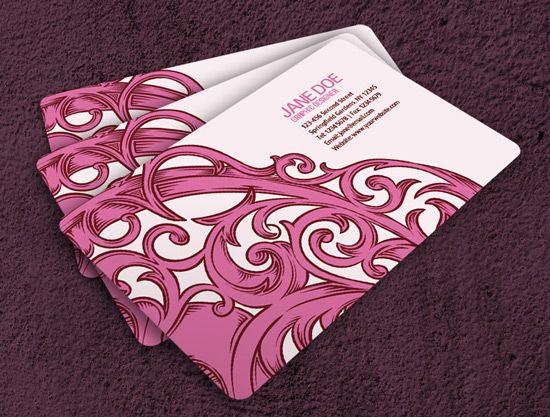 Nice Girly Business Card Free Business Card Templates Graphic Design Business Card Free Business Cards