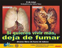 Resultado de imagen para imagen de 31 de mayo dia sin tabaco