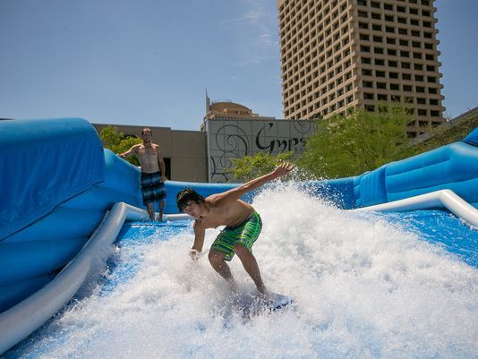 Surf's up on FlowRider in downtown Phoenix | Downtown ...