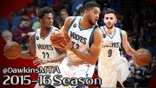 Andrew Wiggins - Ricky Rubio - Karl-Anthony Towns - Minnesota Timberwolves