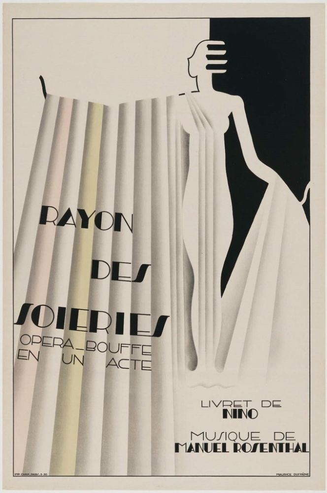 Poster for the Comic Opera, Rayon des Soieries, The Silk Counter / Maurice Dufrène, 1930