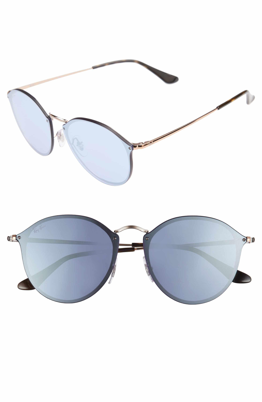 1431bbe7f58c4 Ray-Ban 59mm Blaze Round Mirrored Sunglasses   Heart Eyes ...