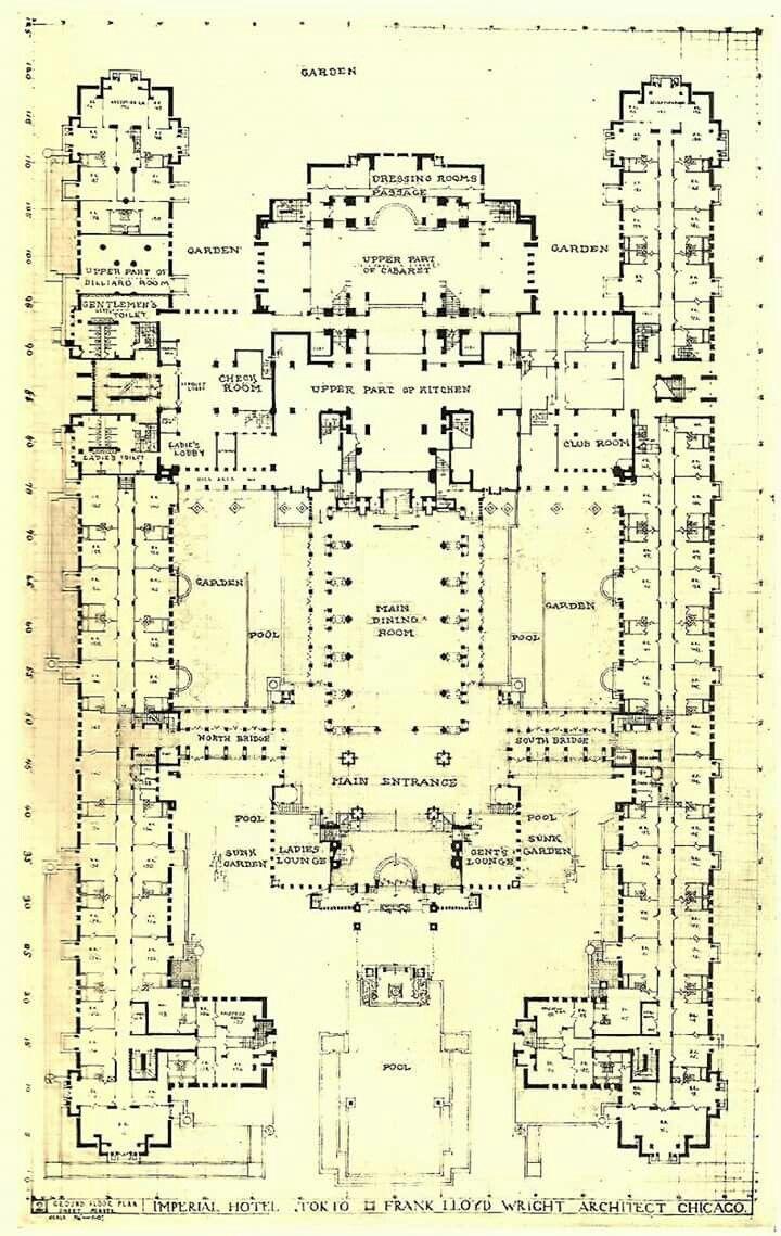 Frank Lloyd Wright - Imperial Hotel, Tokyo | Frank Lloyd Wright ...