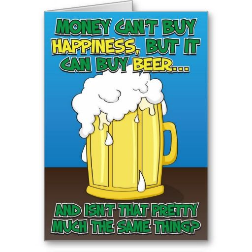 Funny Birthday Card For Man Beer Zazzle Ca Birthday Cards For Men Funny Fathers Day Card Funny Birthday Cards