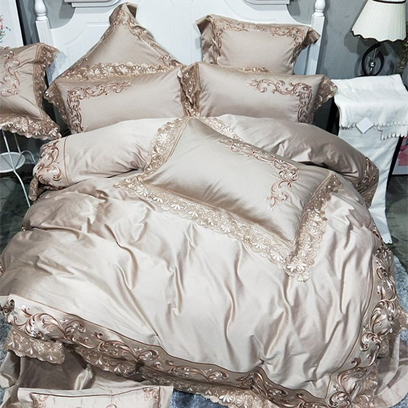 Champagne and Coffee Luxury Embroidered Floral Vintage
