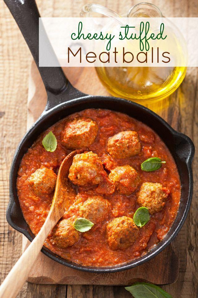 OMG Cheese Stuffed Meatballs - Modern housewife