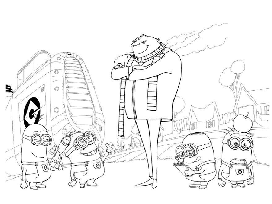 Kids Under 7: Despicable me Coloring pages | grafica | Pinterest