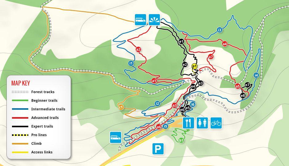 Bikepark Wales Trail Map
