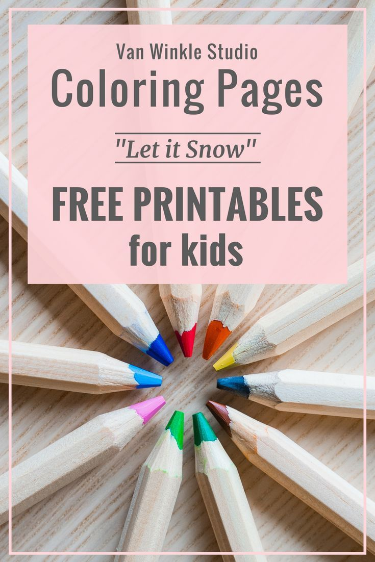 Enjoy These Free Snow Themed Coloring Pages For Kids Featuring Characters From Our Very