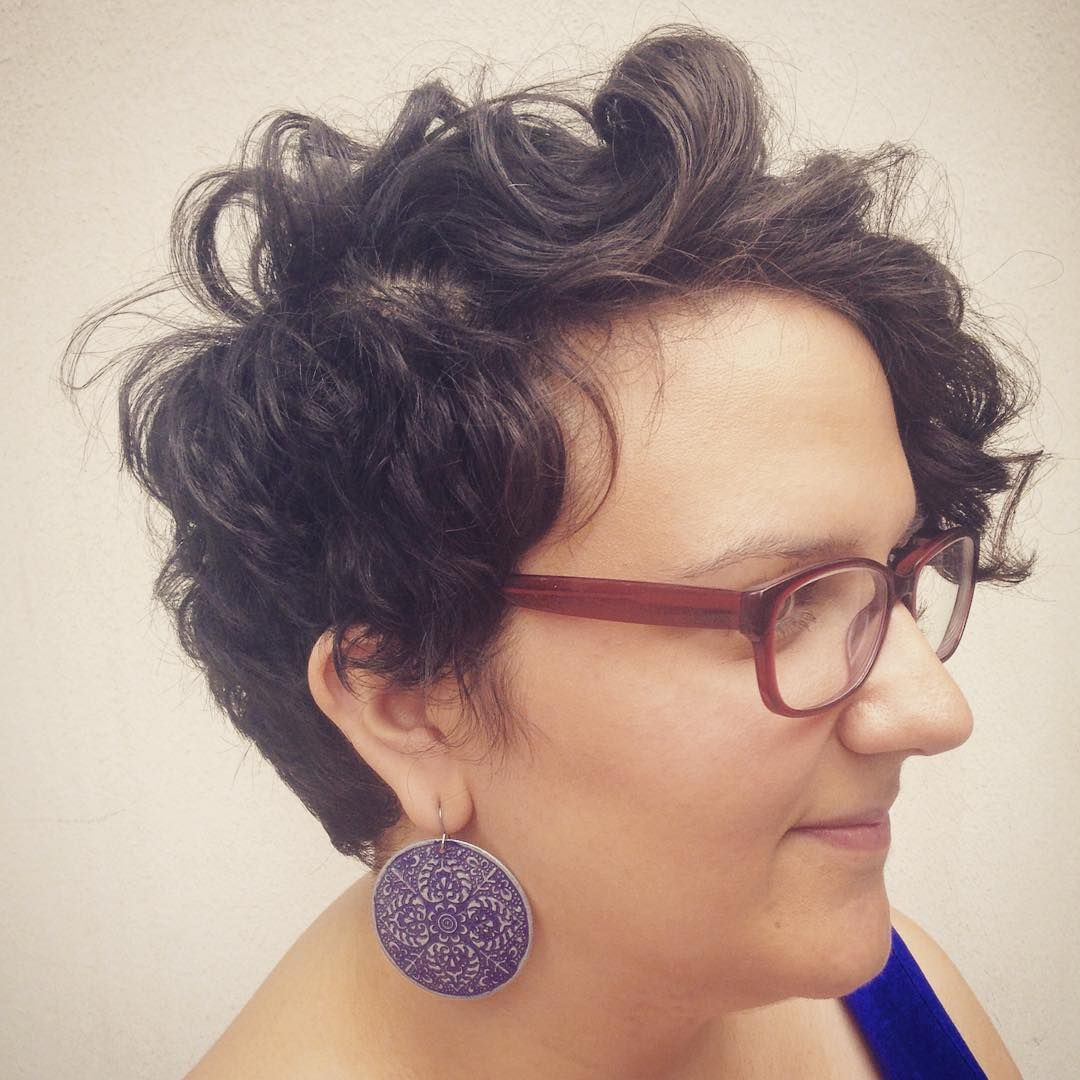 Curly Long Pixie Haircut by Ann Krause at Civello Salon on Belmont- Chicago | Longer pixie ...