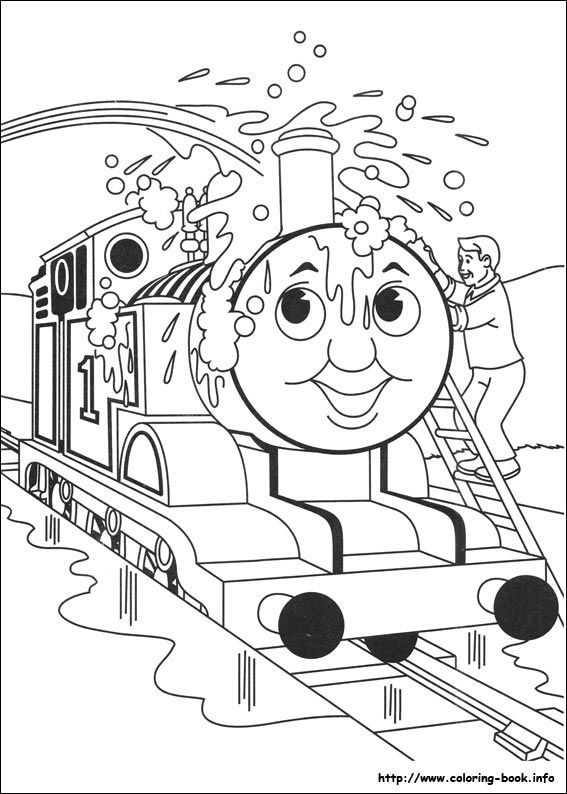 Thomas and Friends coloring picture | Dino | Pinterest