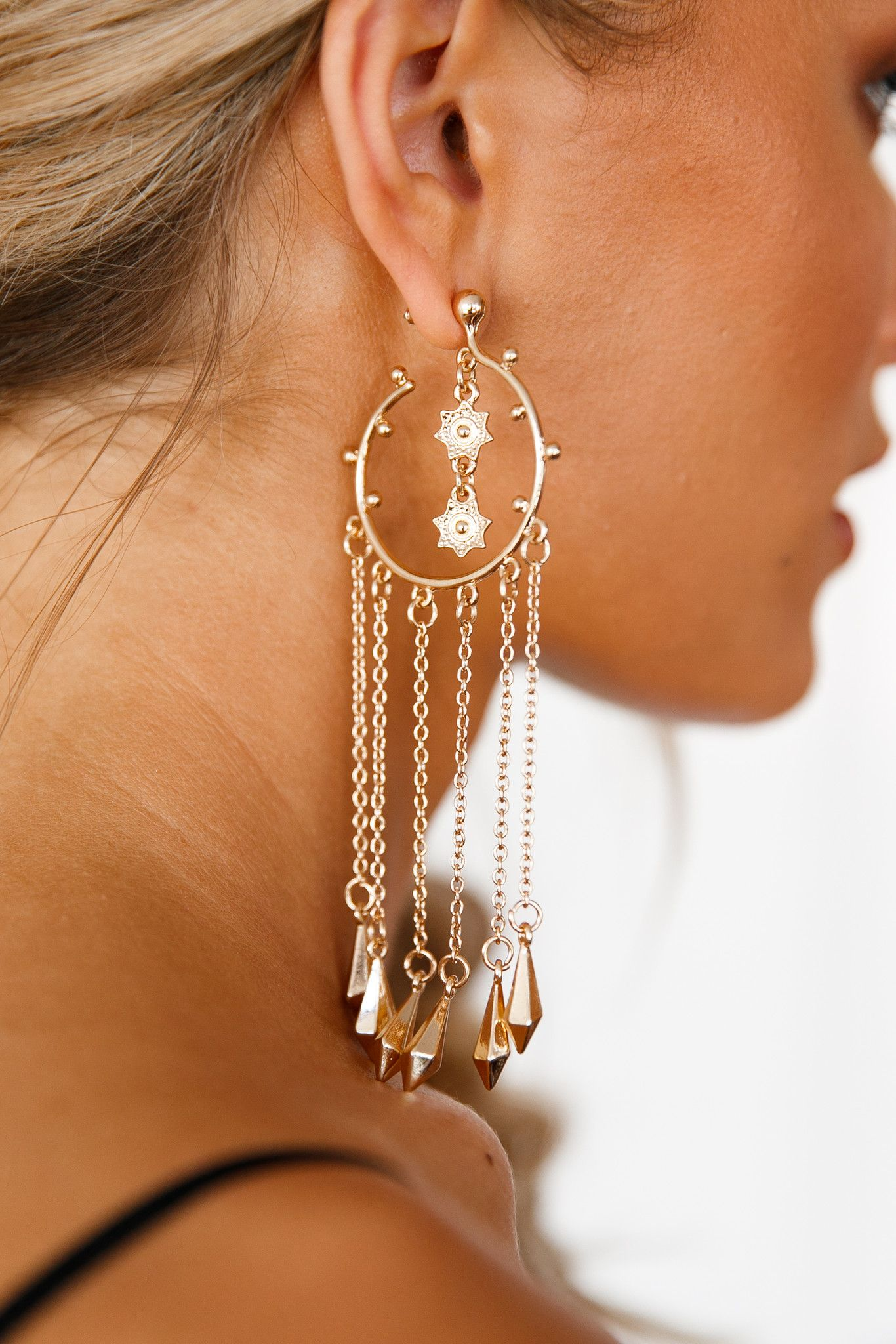 Xenia Boutique - Tangled Love Earrings (Gold)