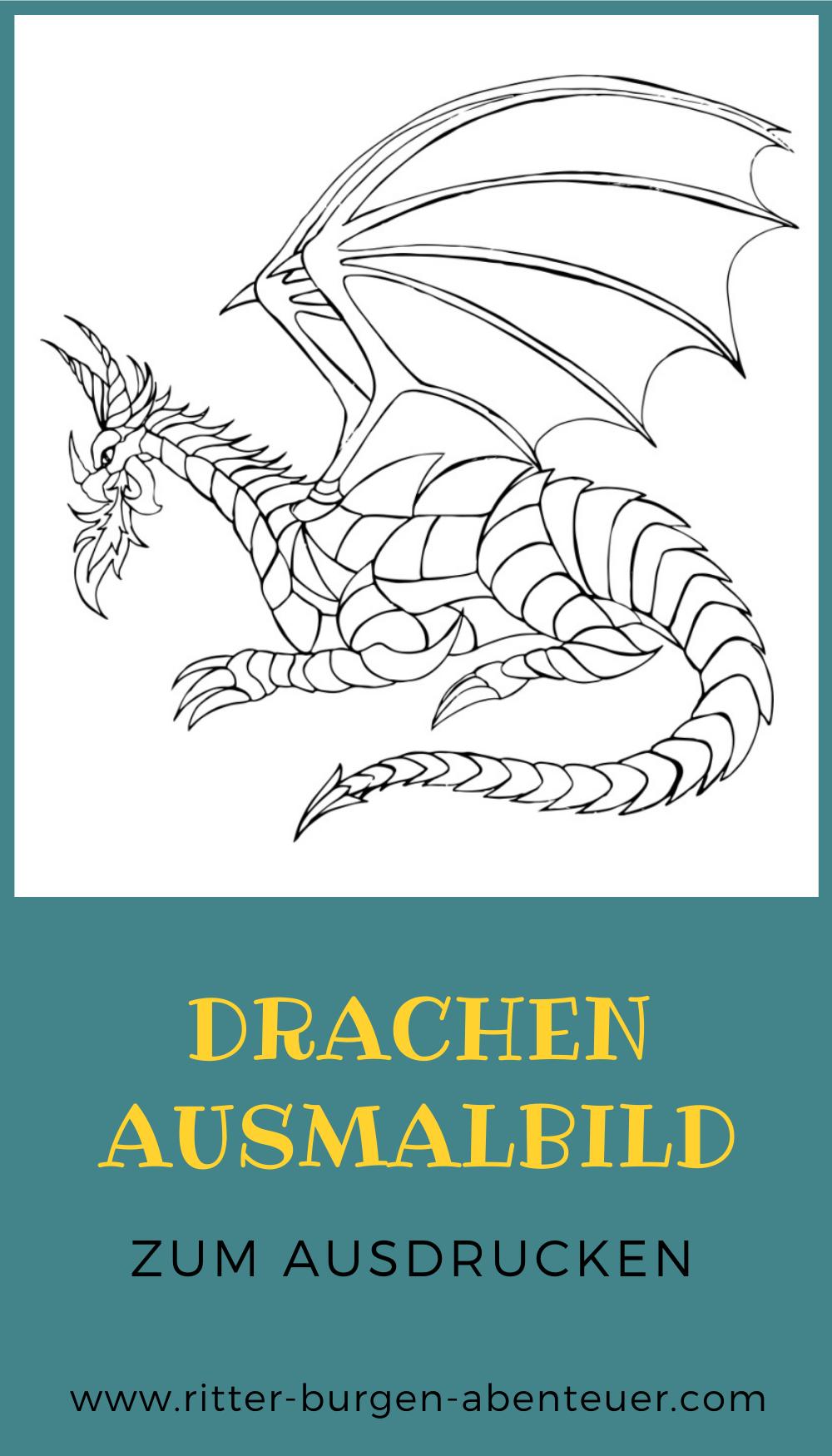 Drachen Ausmalbilder  kostenlose Malvorlagen für Kinder ...
