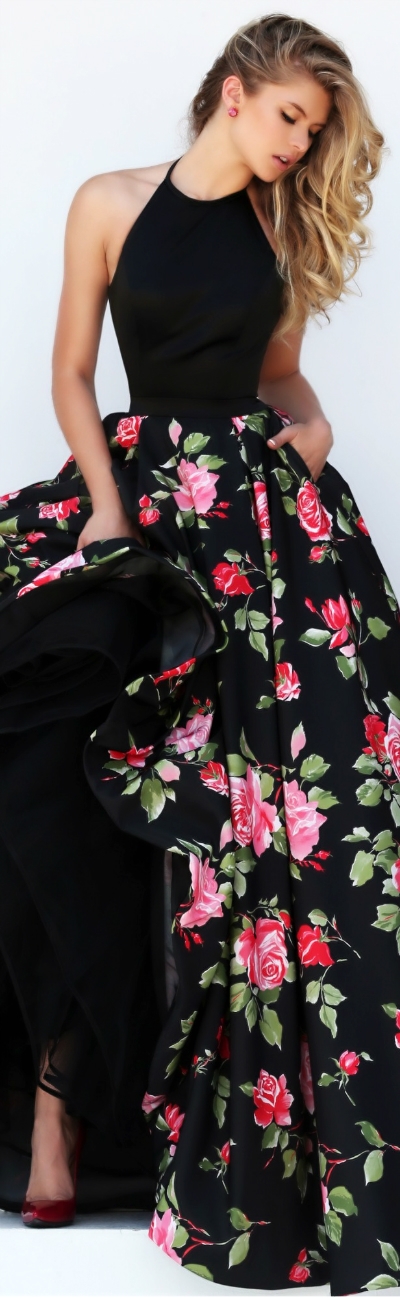 Sherri Hill Floral Gown 2016