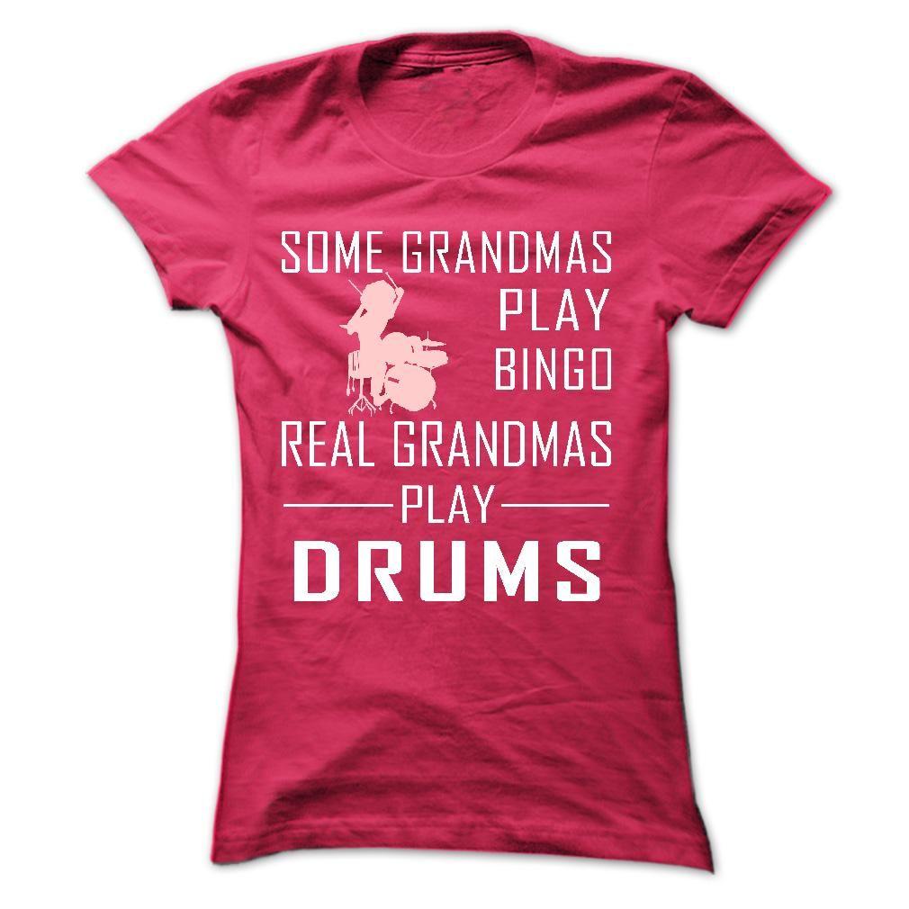Real GRANDMAs Play Drums T Shirt, Hoodie Ebay Shirts, T