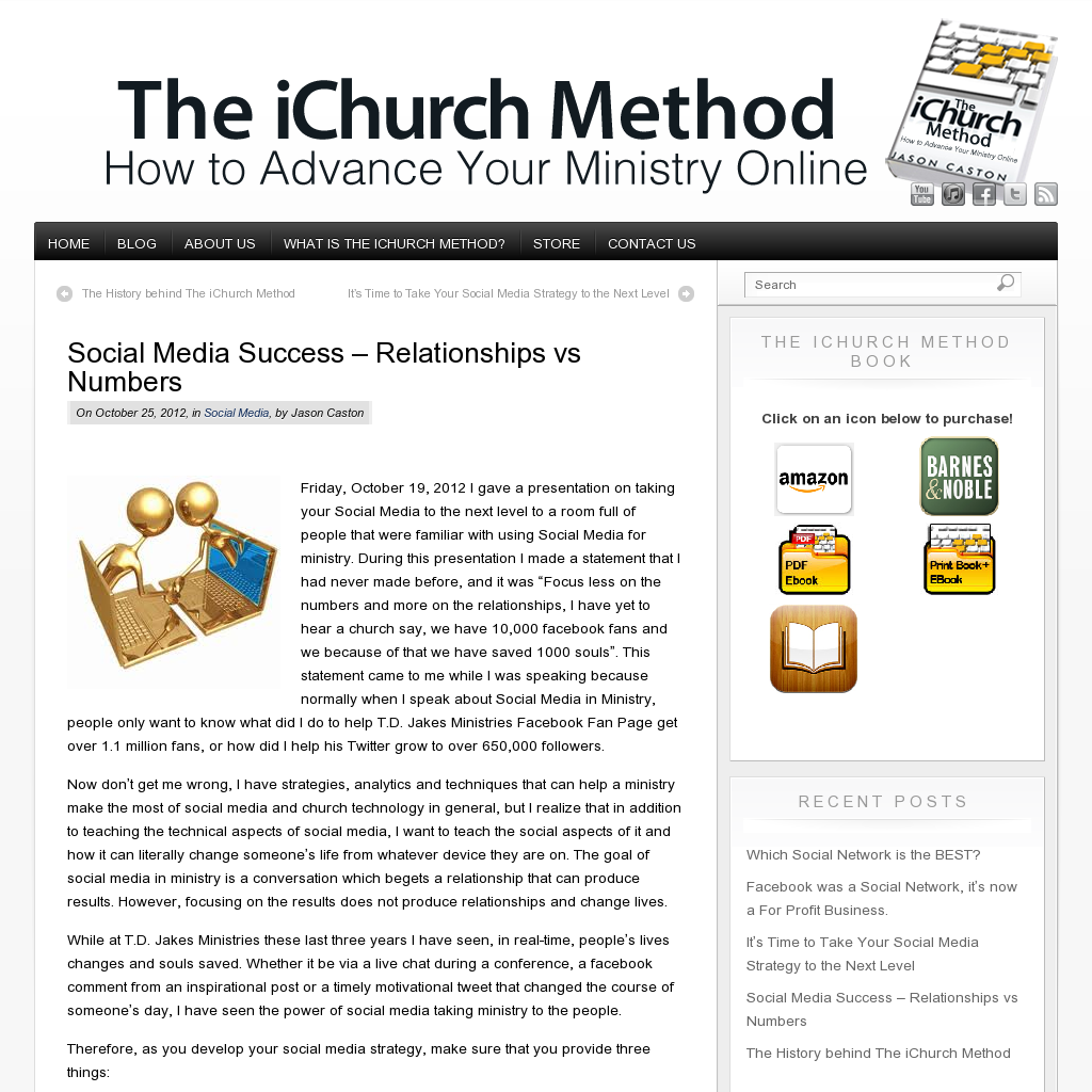 Social Media Success – Relationships vs Numbers - http://ichurchmethod.com/social-media-success-relationships-vs-numbers/